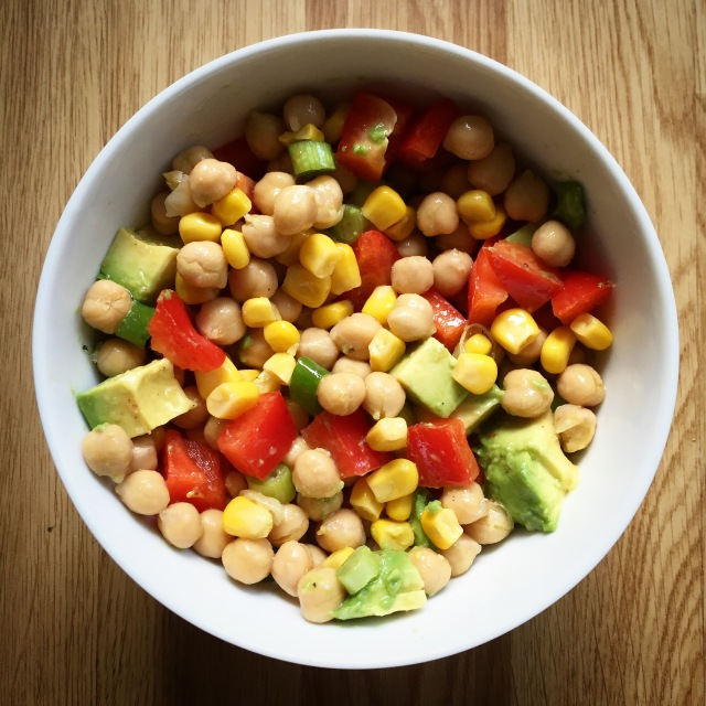 Colourful corn salad