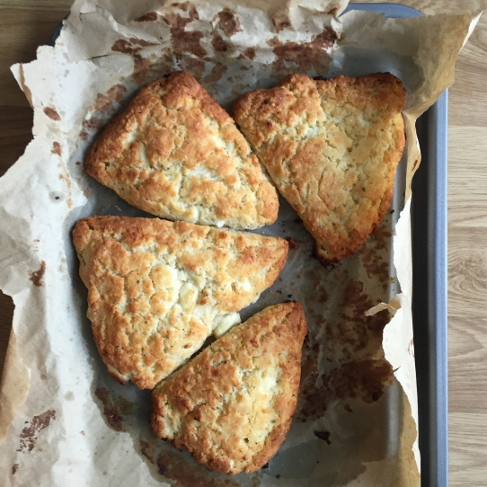 Gluten free goat cheese scones